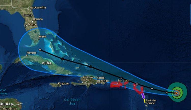 Huracán Irma, con categoría 4, avanza rumbo a a las islas de Puerto Rico, La Española, Cuba y el sur de la Florida