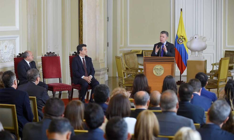 El presidente Juan Manuel Santos en la Casa Nariño, en Bogotá.