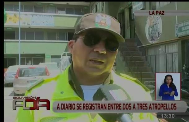 En La Paz se atienden entre dos y tres atropellos diarios