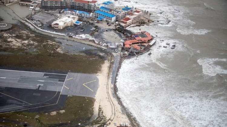 La isla San Martín desde el cielo (Reuters)