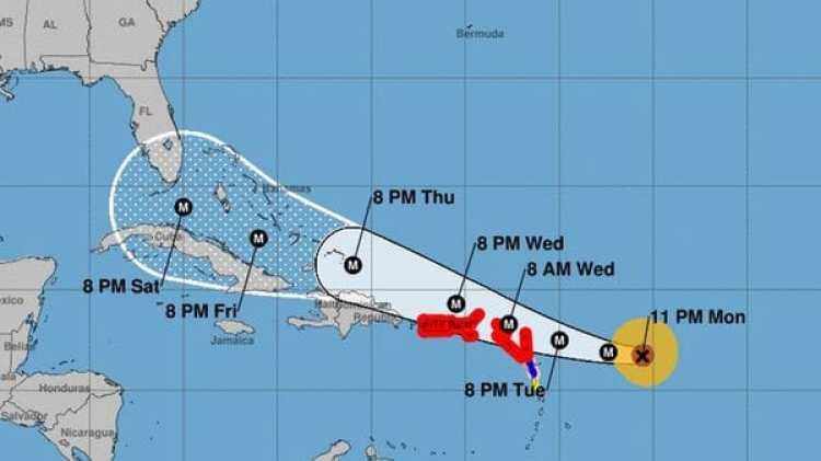 Pronóstico del Huracán Irma. Boletín de las 11 pm – lunes 4