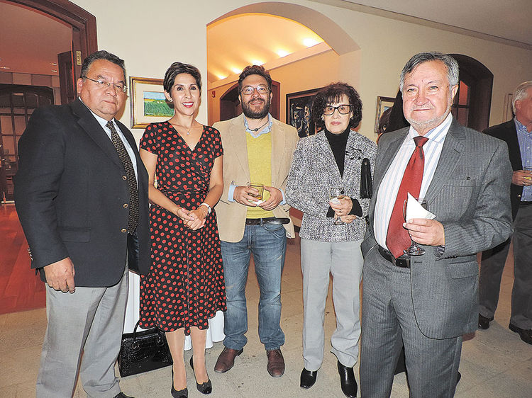 Mario Espinoza, Claudia Benavente, Rafael Loayza, Etel Elena y Juan Carlos Salazar. Foto: Mitsuko Shimose