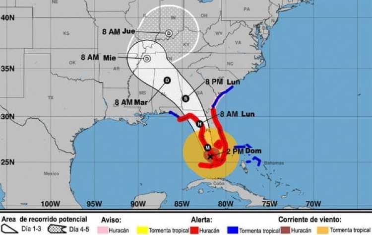 El huracán Irma pasará por Tampa cuando vuelva a tocar tierra en la costa oeste de Florida