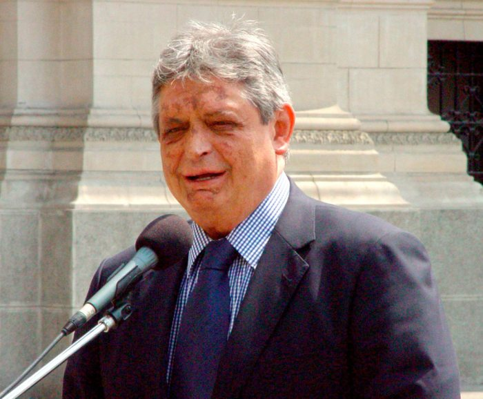 JAIME PAZ, EXPRESIDENTE DE BOLIVIA.
