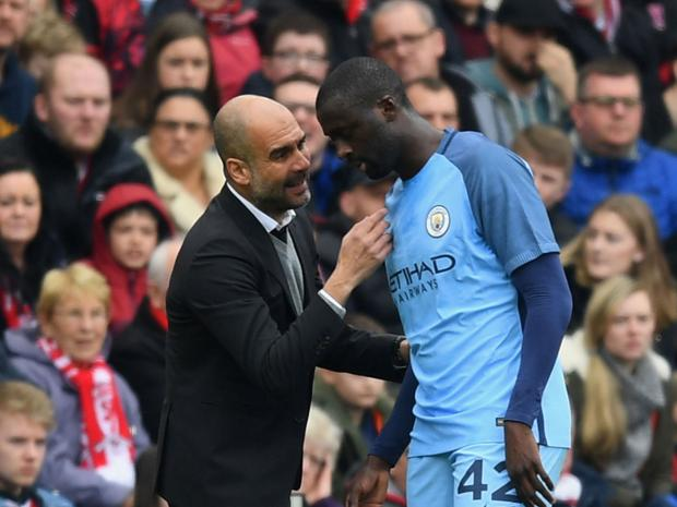 Image result for guardiola y yaya
