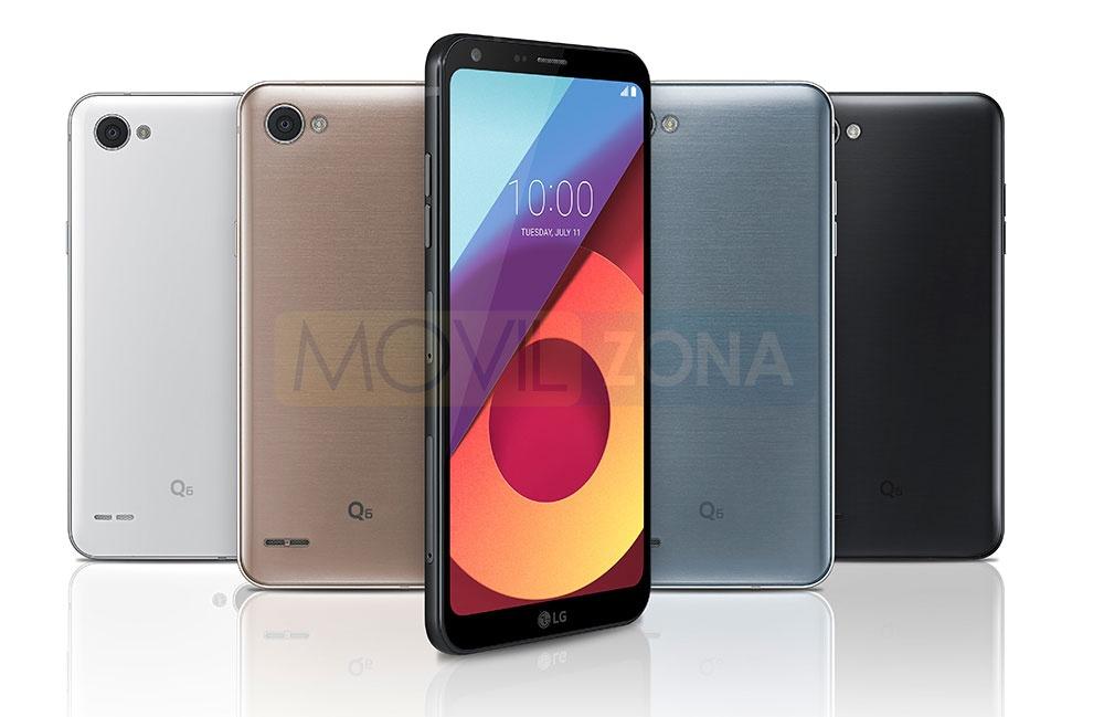 LG Q6 en diferentes colores