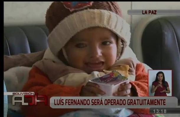 El pequeño Luis Fernando será intervenido en su ojo de forma gratuita