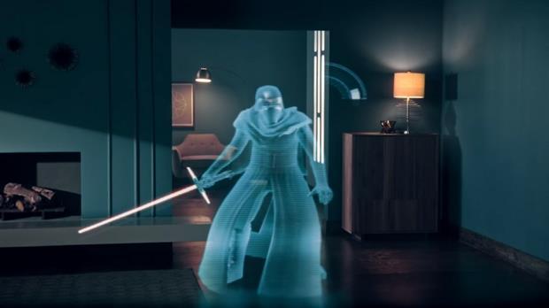 Kylo Ren, uno de los personajes que aparecen en el visor de realidad aumentada de Lenovo