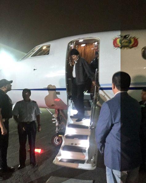 El presidente Evo Morales arribó a Nueva York, Estados Unidos.