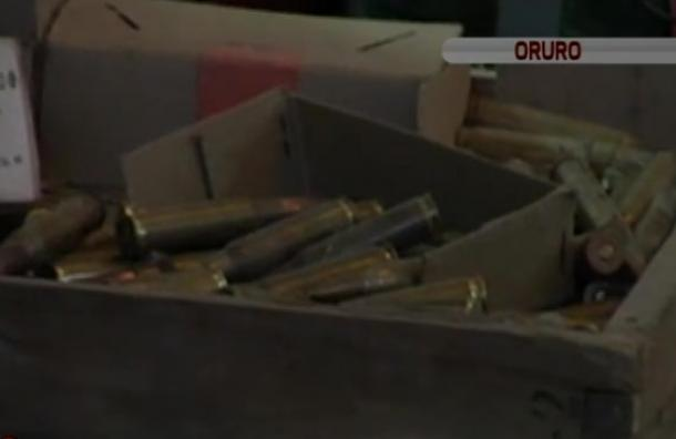 Hallaron municiones de guerra en una vivienda de Oruro