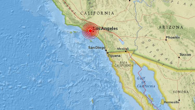 Se registra un sismo de magnitud 3,6 en Los Ángeles