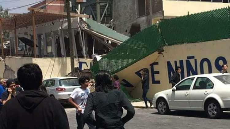 ColegioRebsamen donde murieron al menos 21 niños luego del terremoto de este martes.