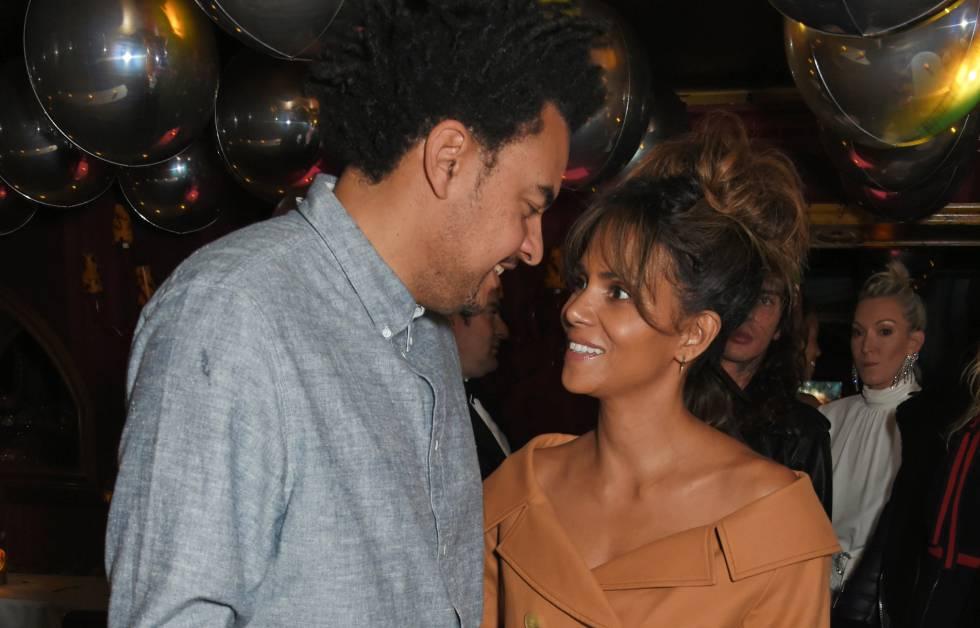 Halle Berry y Alex Da Kid, el pasado lunes en una fiesta en Londres.