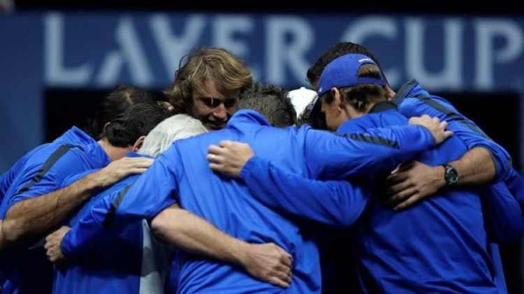 (Reuters) El equipo europeo vence al Resto del Mundo. Mañana será la final