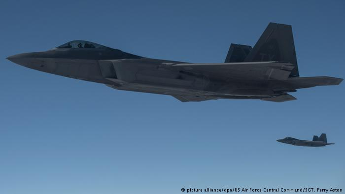 US Kampfjet F-22 (picture alliance/dpa/US Air Force Central Command/SGT. Perry Aston)
