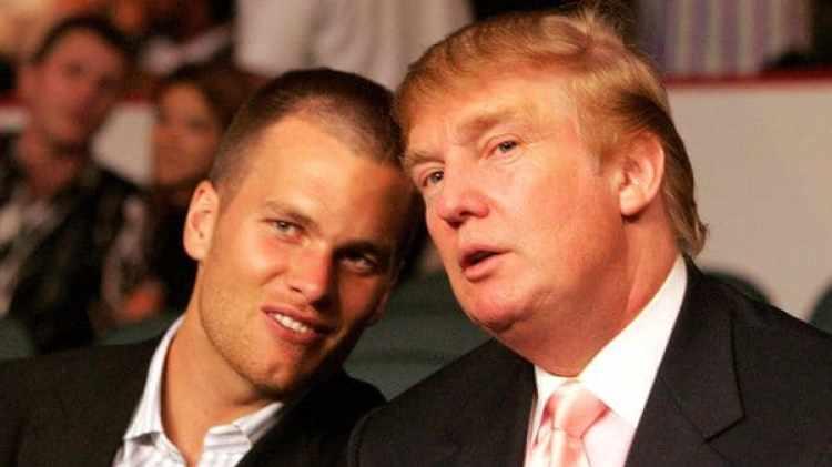 Brady mantiene una relación de amistad con Donald Trump
