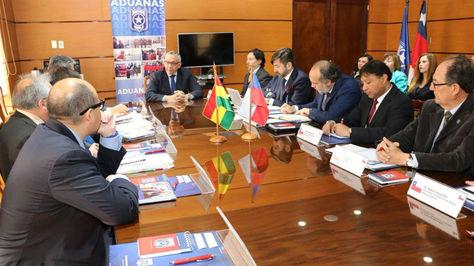 Reunión entre delegaciones de Bolivia y Chile