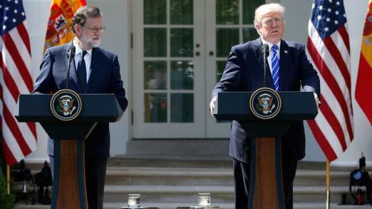 Mariano Rajoy junto a Donald Trump (Reuters)