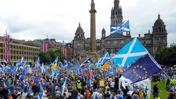 Seguidores del separatismo escocés