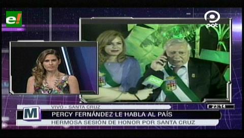 Percy Fernández: En Santa Cruz está reflejada la sociedad del Mundo