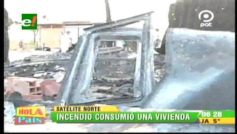 Incendio consumió una vivienda