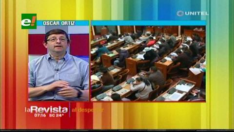 Elecciones judiciales: Senador Ortiz afirma que todos los candidatos son afines al MAS
