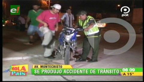 Motociclista resulta herido tras chocar con un vehículo