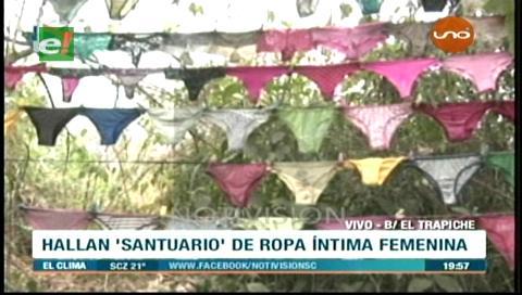 """Barrio El Trapiche: Hallan un """"santuario de calzones"""", buscan a un supuesto depravado"""