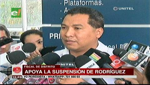 Fiscal Larrea: Zenón Rodríguez debería ser suspendido del TDJ