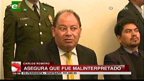 Intervención policial en atracos: Ministro Romero dice que malinterpretaron sus palabras
