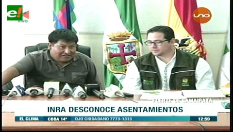 INRA desconoce asentamientos en El Fuerte de Samaipata