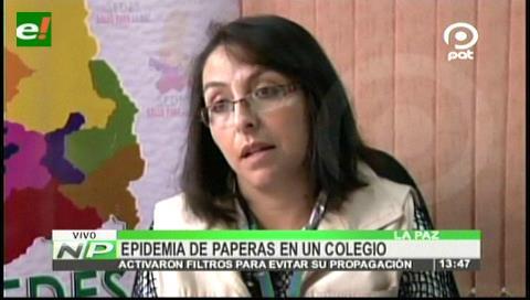 Registran epidemia de paperas en un colegio de La Paz