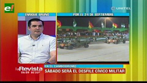 Gobernación cruceña alista los preparativos para el desfile cívico militar en el Cambódromo