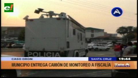 Caso dron: Municipio cruceño entregó el camión de monitoreo a la Fiscalía