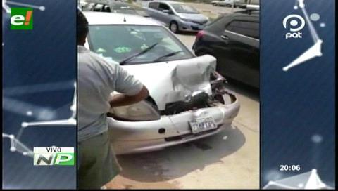 Dos vehículos colisionaron en la radial 13