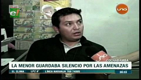 Cochabamba: Detienen a sujeto que violó a su hija de 12 años