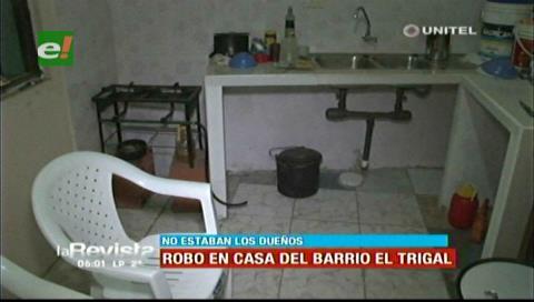 Ladrones ingresan y roban en una vivienda del barrio El Trigal