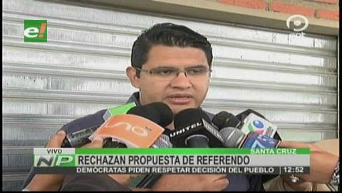 Demócratas rechazan propuesta de referendum planteado por Mesa