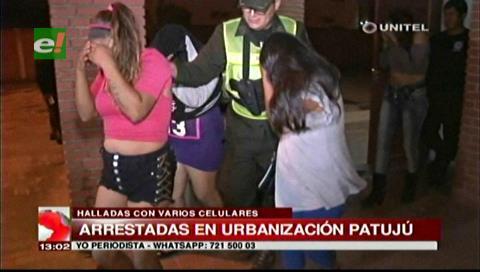 Detienen a cuatro mujeres con celulares robados