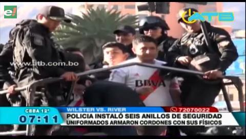 Policía detuvo a hinchas de River Plate en estado de ebriedad