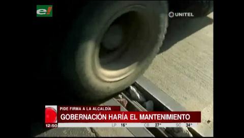 Gobernación afirma que pueden hacerse cargo del mantenimiento del puente