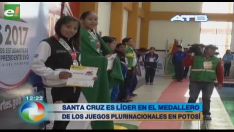 Santa Cruz lidera el medallero en los Juegos Plurinacionales