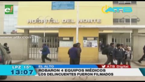 Ladrones sustrajeron equipos médicos del Hospital del Norte