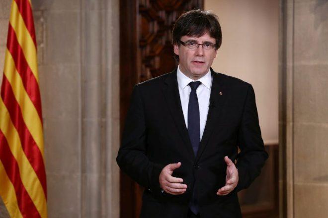 El presidente del gobierno catalán, Carles Puigdemont / Jordi Bedmar Handout via REUTERS