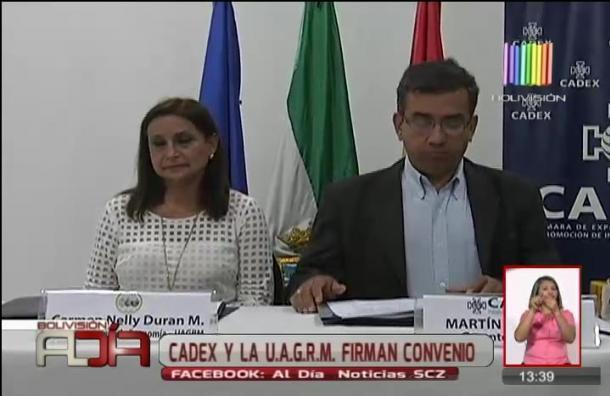 Cadex y universidad René Moreno firman acuerdo favorable a estudiantes