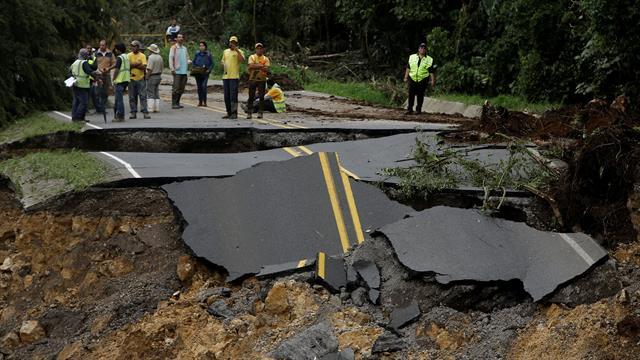 El paso del huracán Nate en Costa Rica