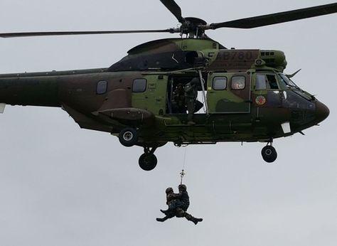 Una demostración militar. Foto:FAB