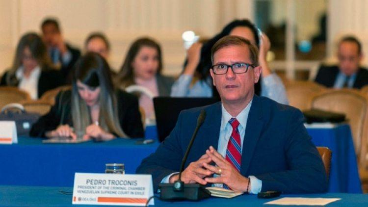 El magistrado Pedro Troconis también formó parte de las audiencias (Twiter: @OEA_oficial)