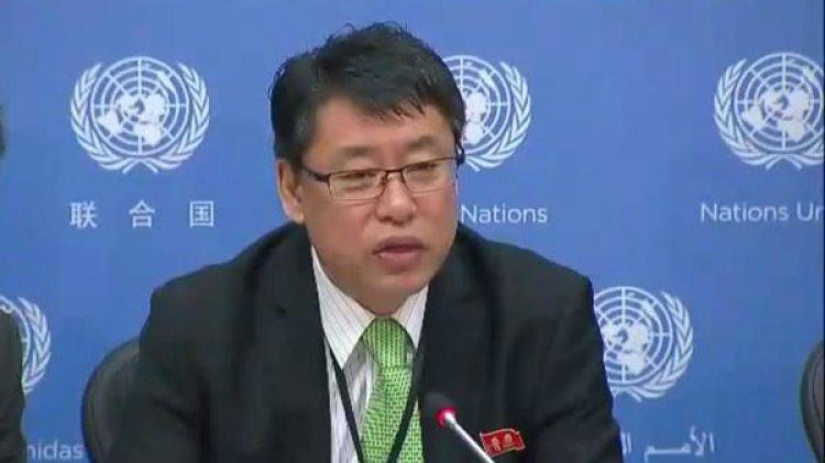 El viceembajador de Corea del Norte en las Naciones Unidas Kim In Ryong