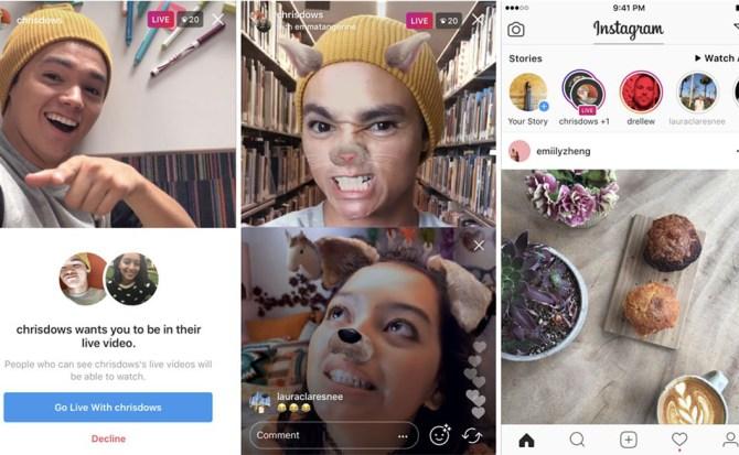 Instagram Live lanza oficialmente la transmisión en vivo simultánea